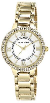 Anne Klein Ladies' Gold-Tone & Swarovski Crystal Quartz Watch $95 thestylecure.com