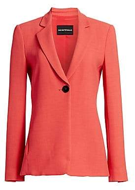Emporio Armani Women's Micro Weave Blazer