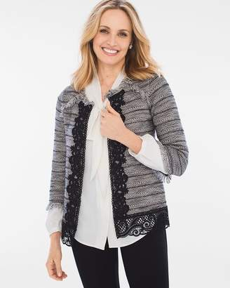 Chico's Lace Tweed Cardigan