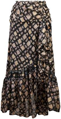 Ulla Johnson printed asymmetric midi skirt