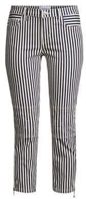 Current/Elliott The Cropped Lexton Stripe Jeans