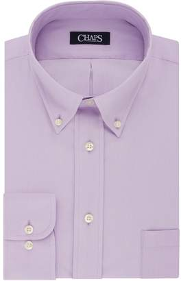 Chaps Big & Tall Regular-Fit Herringbone Wrinkle-Free Dress Shirt