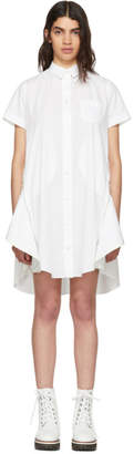 Sacai White Poplin Dress
