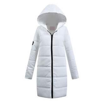 Winter Jacket Women Cotton Down Parka Hooded Womens Coat Casual Slim Down & Parkas Solid Basic Womens Jacket Long Sleeve Coat Women's Clothing