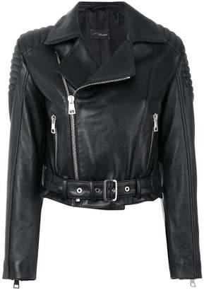 Manokhi cropped biker jacket