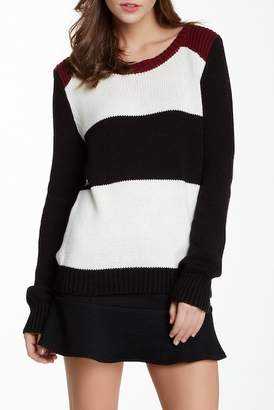 Olive + Oak Olive & Oak Long Sleeve Striped Knit Pullover Sweater