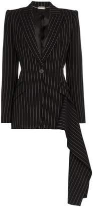 Alexander McQueen v-neck long sleeve pinstripe jacket