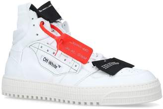Off-White Off White Leather Off-Court 3.0 High-Top Sneakers