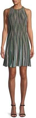 M Missoni Bubble Knit Halter-Neck Dress