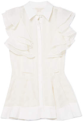 Antonio Berardi Ruffled Crepe Shirt - White