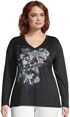 Just My Size Plus Size Graphic Cool Dri Performance Top