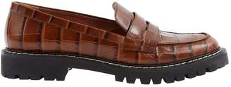 Sportmax Brown Leather Flats