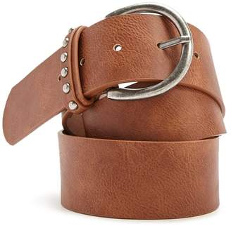 Forever 21 Faux Leather Wide Hip Belt
