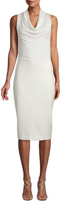 Max Mara Drape Sheath Dress