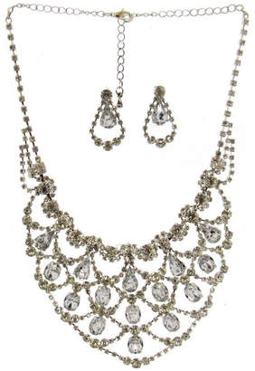 Sassy South Rhinestone Necklace & Earrings