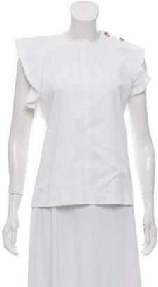 Celine Cotton Short Sleeve Blouse