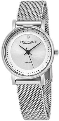 Stuhrling Original Stainless Steel Case on Mesh Bracelet Watch