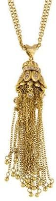 Sara Weinstock 18K Diamond Tassel Pendant Necklace