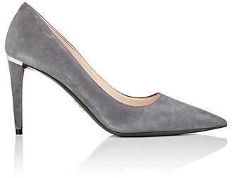 Prada Women's Suede Pointed-Toe Pumps