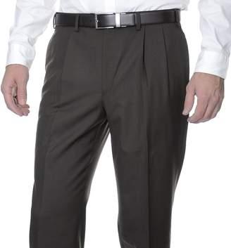 Ralph Lauren Regular Fit Solid Dark Pleated Wool Dress Pants