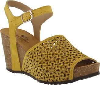 Spring Step Suede Wedge Sandals - Lauralyn