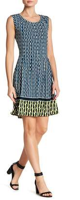 Max Studio Print Fit & Flare Dress