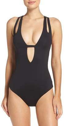 Becca Color Code Plunge One-Piece Swimsuit