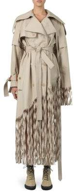 Loewe Fringe Trench Coat