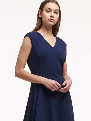 Donna Karan Donnakaran Fit-And-Flare V-Neck Dress
