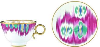 Hermes Ikat Teacup & Saucer