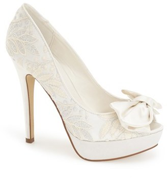 Women's Menbur 'Flora' Bridal Platform Pump $149.95 thestylecure.com