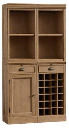 Pottery Barn Modular Bar System with 2 Standard Hutches, 1 Cabinet Base, and 1 Wine Grid Base, Seadrift