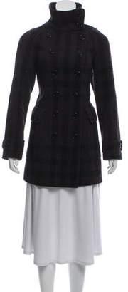Burberry Plaid Wool Coat