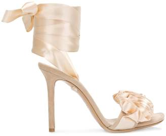 Casadei lace-up satin sandals
