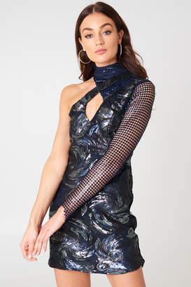 boohoo One Shoulder Sequin Dress Multi