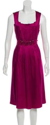 Magaschoni Embellished Silk Dress