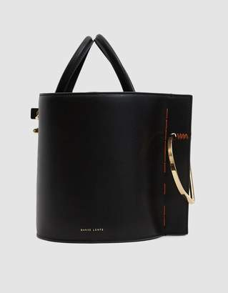 Danse Lente Bobbi Leather Bucket Bag in Black