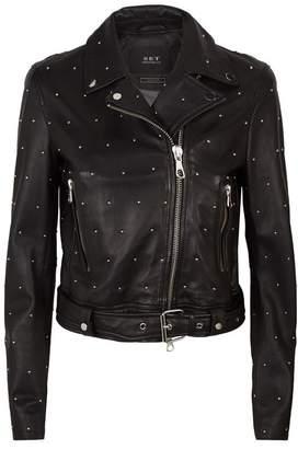 SET Studded Leather Jacket