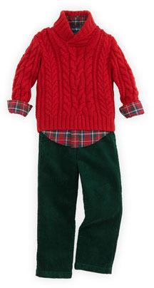 Ralph Lauren Preston Corduroy Pants, Green, Sizes 4-7