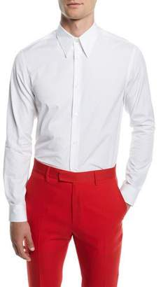 Calvin Klein Men's Poplin Basic Sport Shirt