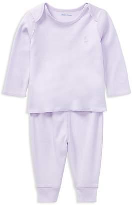 Ralph Lauren Girls' Cotton Tee & Leggings Set - Baby