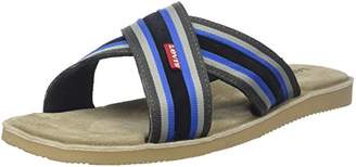 Levi's Men's PARDEE Cross Flip Flops (Navy Blue 17)