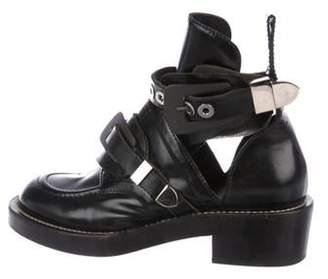 Balenciaga Ceinture Leather Ankle Boots Black Ceinture Leather Ankle Boots