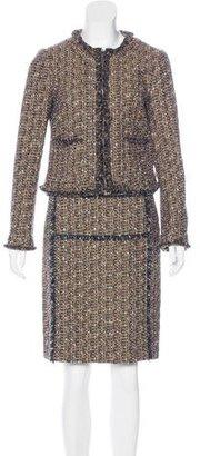 Tory Burch Tweed Lamé Skirt Suit $125 thestylecure.com