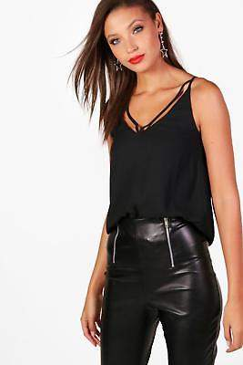 boohoo NEW Womens Tall Strappy Woven Cami in Polyester
