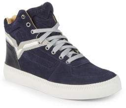 Diesel Lace-Up Leather High-Top Sneakers