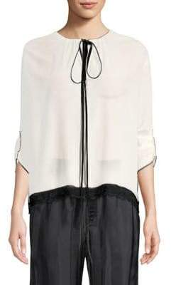 Marc Jacobs Silk Tie-Neck Blouse