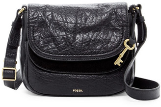 Fossil Peyton Small Double Flap Leather Crossbody $178 thestylecure.com