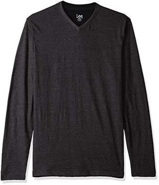 Lee Men's Shirt Long Sleeve Casual V Neck Tipping Regular Big Tall