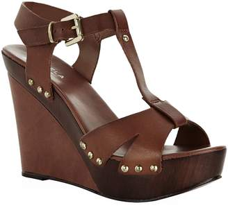Kurt Geiger Carvela Katey Leather Wedge Sandal
